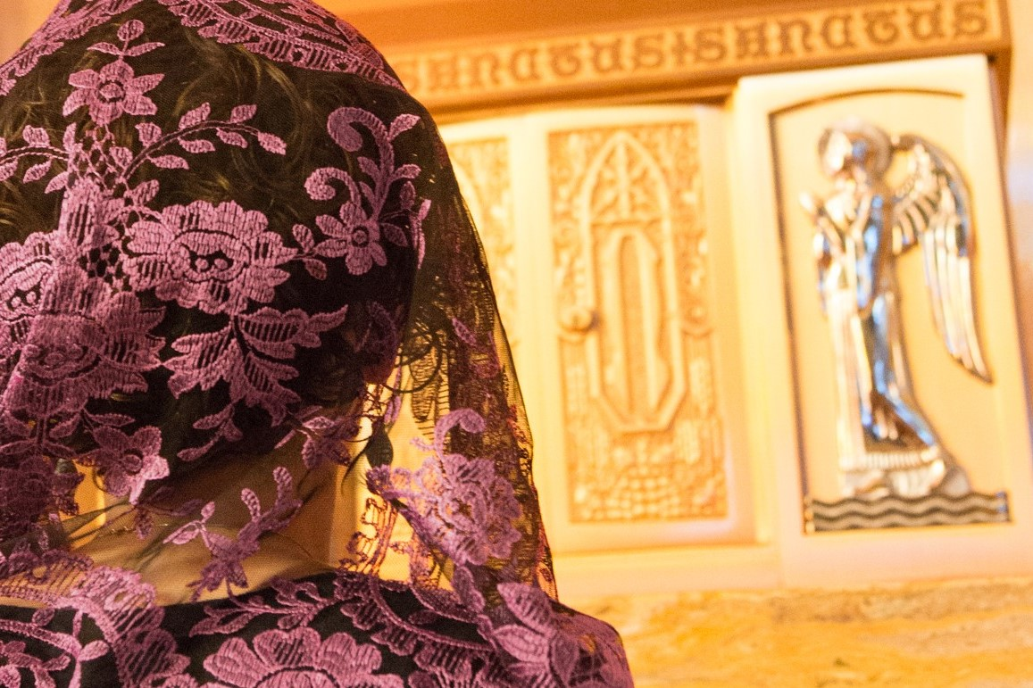 Veiled before the tabernacle