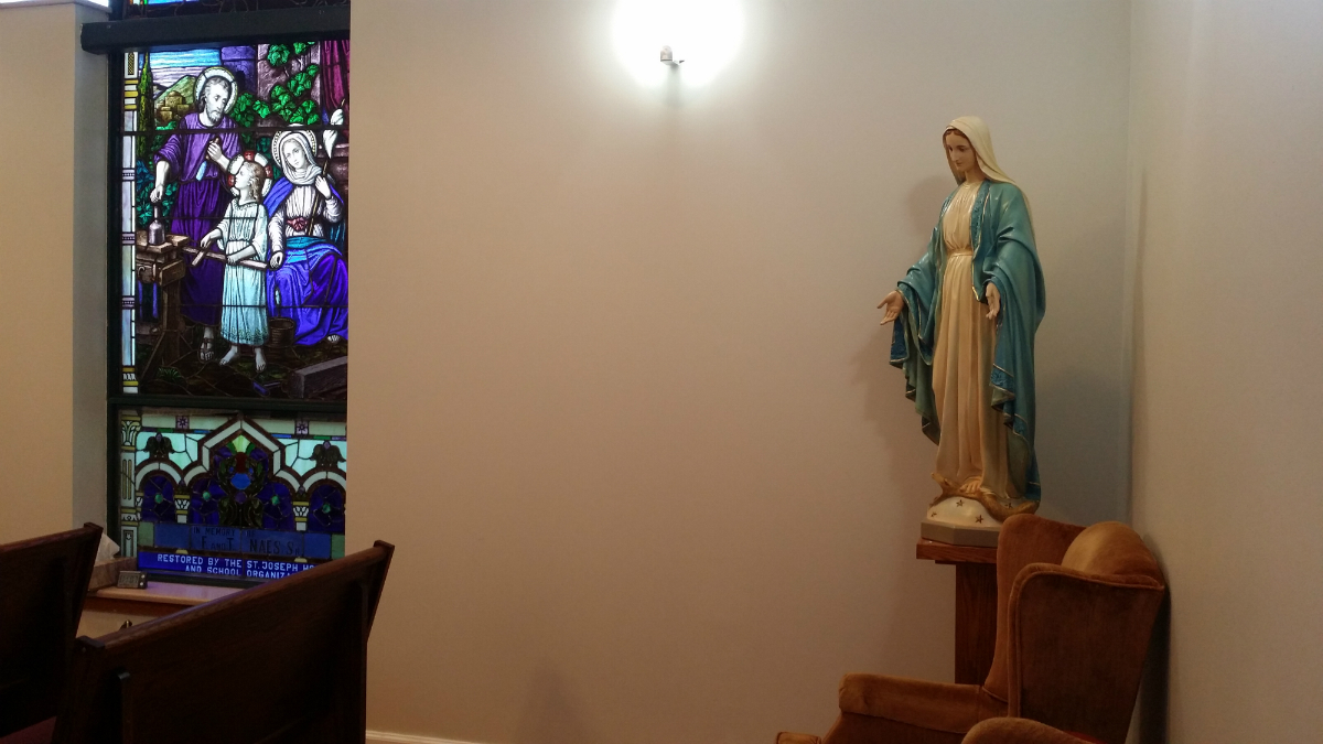 Adoration Chapel - Blessed Mother Statue